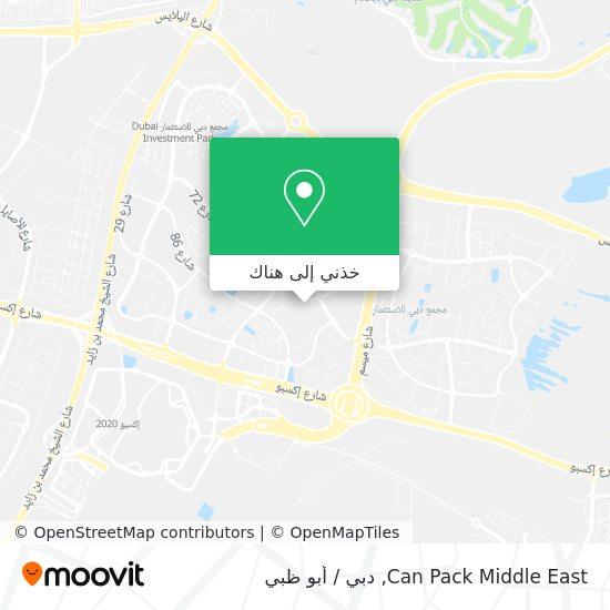 خريطة Can Pack Middle East