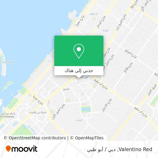 خريطة Valentino Red