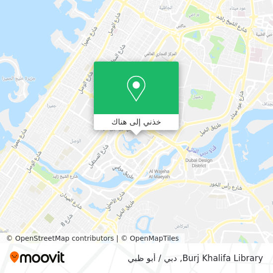 خريطة Burj Khalifa Library