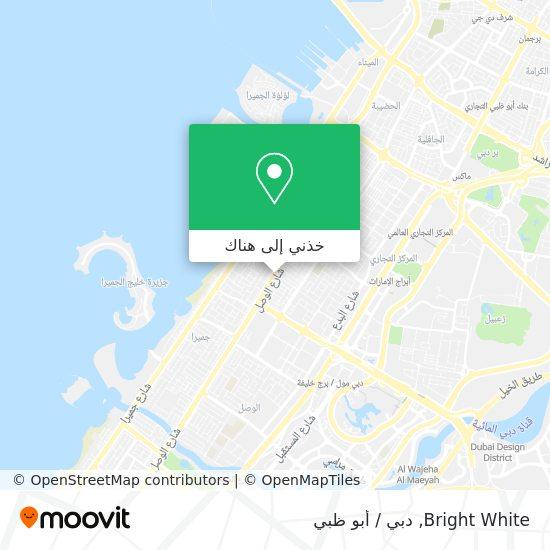 خريطة Bright White
