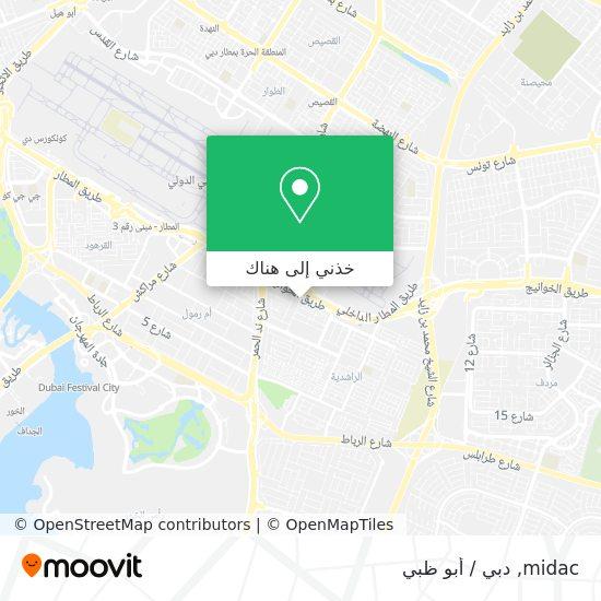 خريطة midac