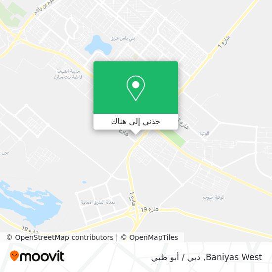خريطة Baniyas West