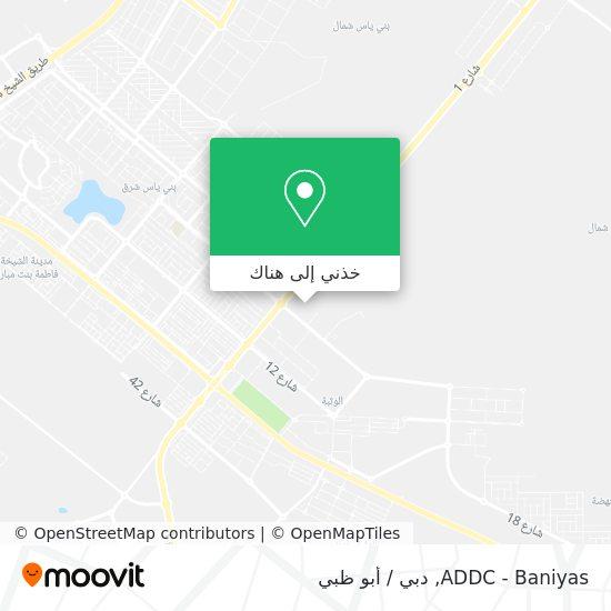 خريطة ADDC - Baniyas