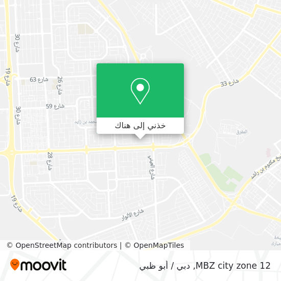 خريطة MBZ city zone 12