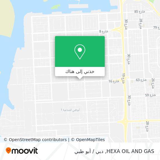خريطة HEXA OIL AND GAS