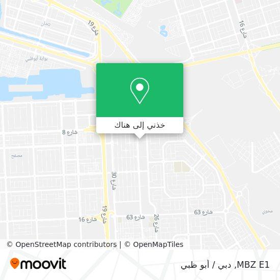 خريطة MBZ E1