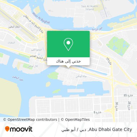 خريطة Abu Dhabi Gate City