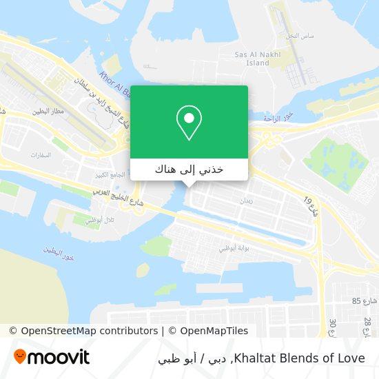 خريطة Khaltat Blends of Love
