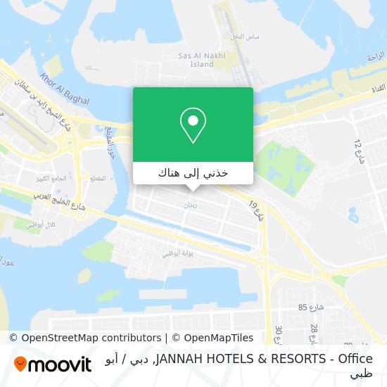 خريطة JANNAH HOTELS & RESORTS - Office