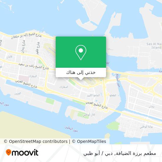 خريطة مطعم برزة الضيافة