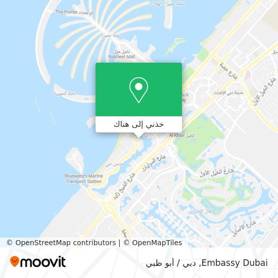 خريطة Embassy Dubai