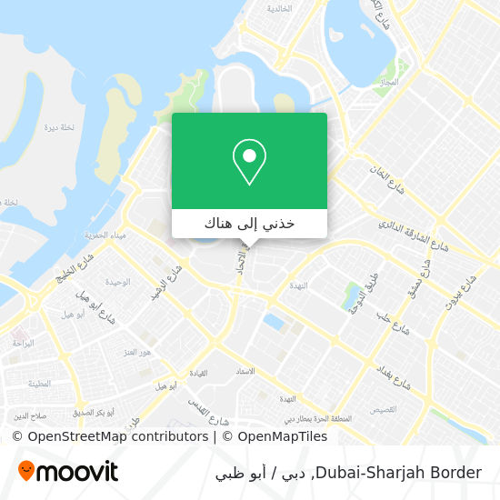 خريطة Dubai-Sharjah Border
