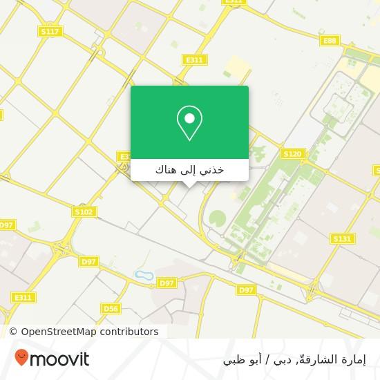 خريطة إمارة الشارقةّ