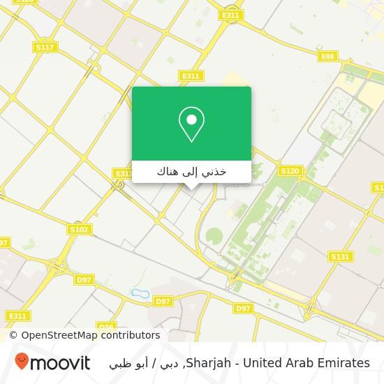 خريطة Sharjah - United Arab Emirates