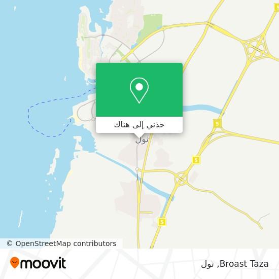 خريطة Broast Taza