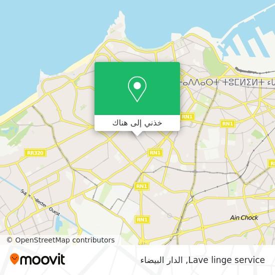 خريطة Lave linge service