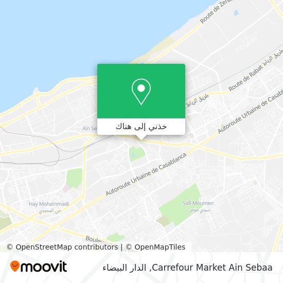 خريطة Carrefour Market Ain Sebaa
