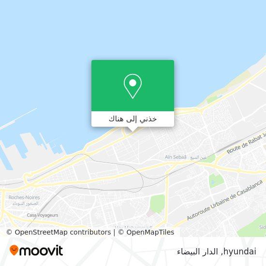 خريطة hyundai
