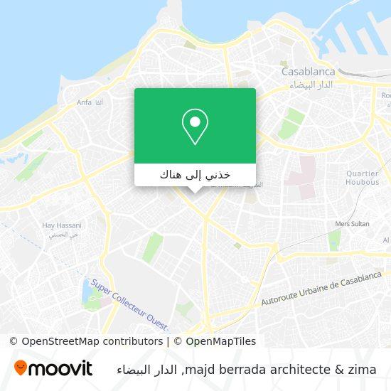 خريطة majd berrada architecte & zima