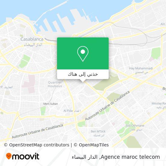 خريطة Agence maroc telecom