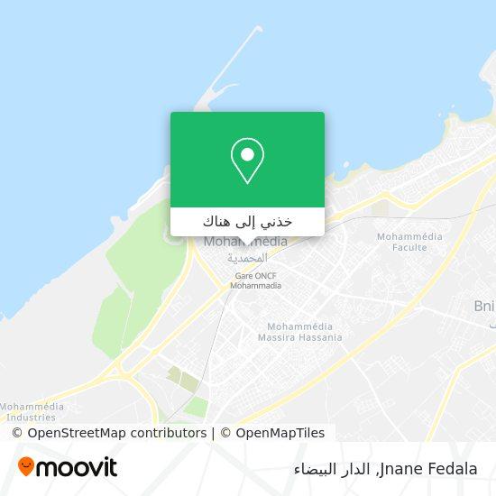 خريطة Jnane Fedala