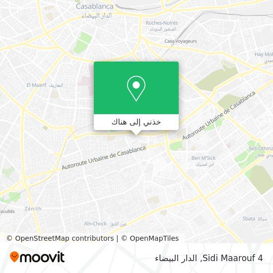 خريطة Sidi Maarouf 4