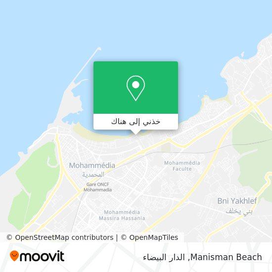 خريطة Manisman Beach