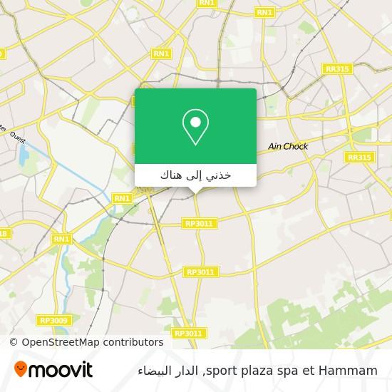 خريطة sport plaza spa et Hammam