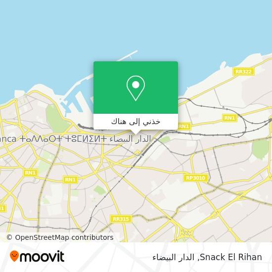 خريطة Snack El Rihan