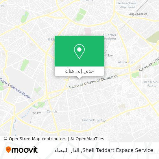خريطة Shell Taddart Espace Service