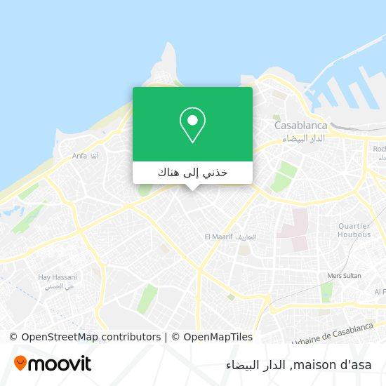 خريطة maison d'asa