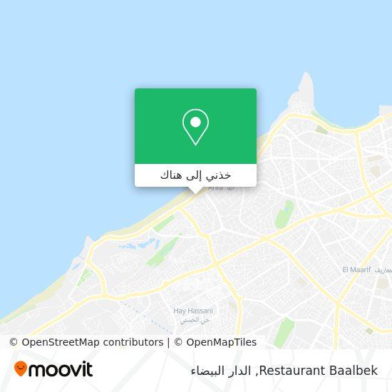 خريطة Restaurant Baalbek