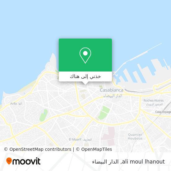 خريطة ali moul lhanout