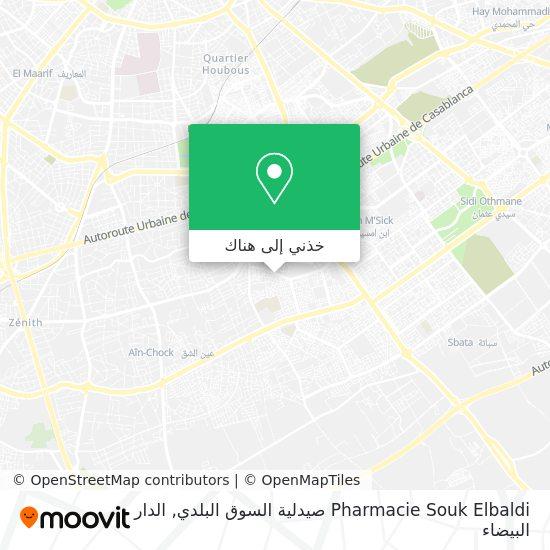 خريطة Pharmacie Souk Elbaldi صيدلية السوق البلدي