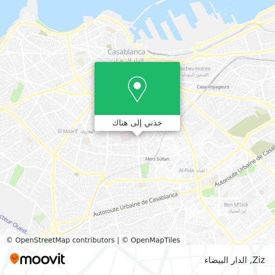 خريطة Ziz