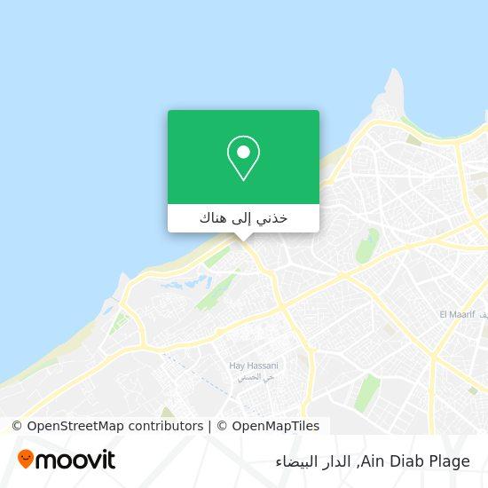 خريطة Ain Diab Plage Terminus