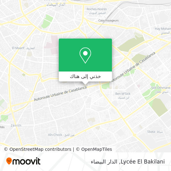 خريطة Lycée El Bakilani