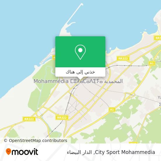 خريطة City Sport Mohammedia