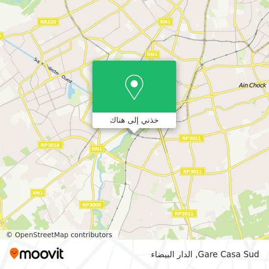خريطة Gare Casa Sud