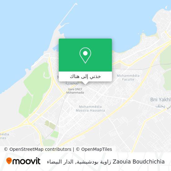 خريطة Zaouia Boudchichia زاوية بودشيشية
