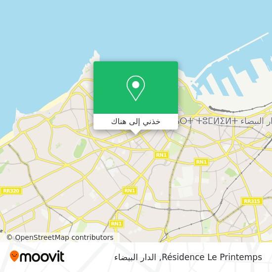 خريطة Résidence Le Printemps