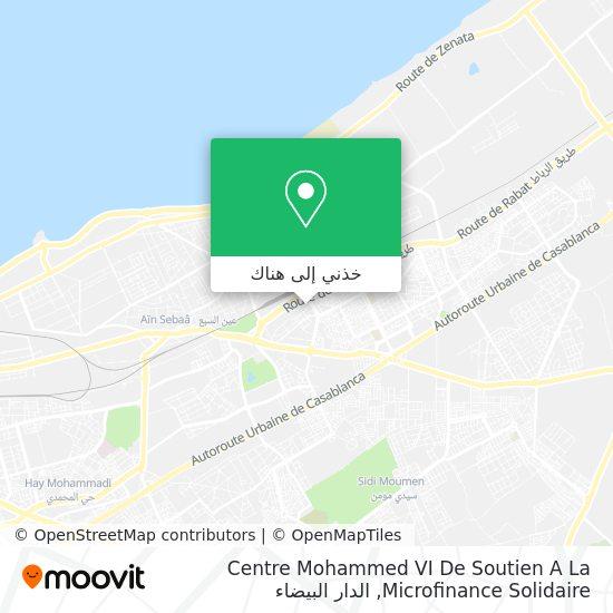 خريطة Centre Mohammed VI De Soutien A La Microfinance Solidaire