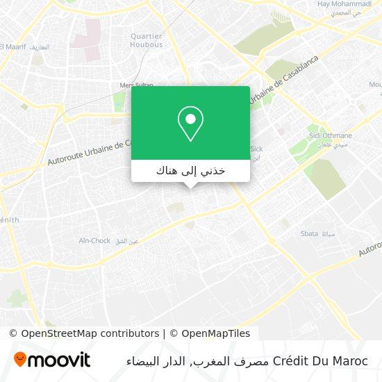 خريطة Crédit Du Maroc مصرف المغرب