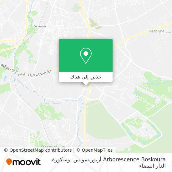 خريطة Arborescence Boskoura أربوريسونس بوسكورة