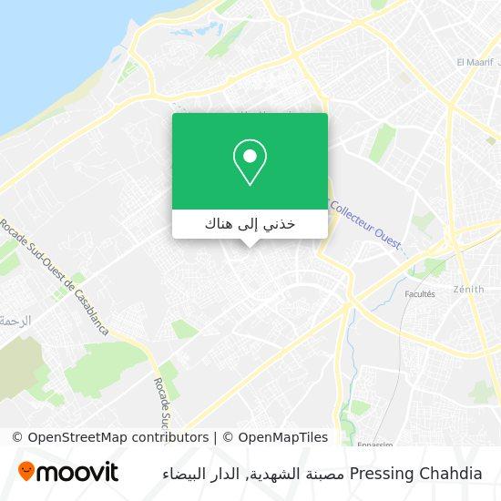 خريطة Pressing Chahdia مصبنة الشهدية
