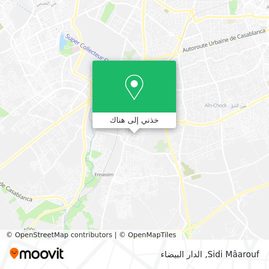 خريطة Sidi Mâarouf