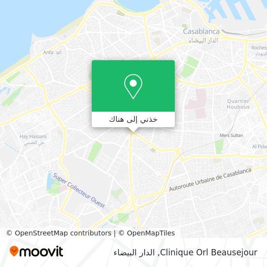 خريطة Clinique Orl Beausejour