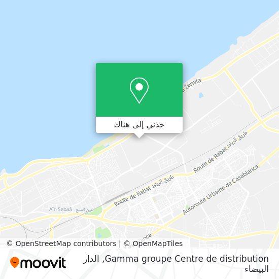 خريطة Gamma groupe Centre de distribution
