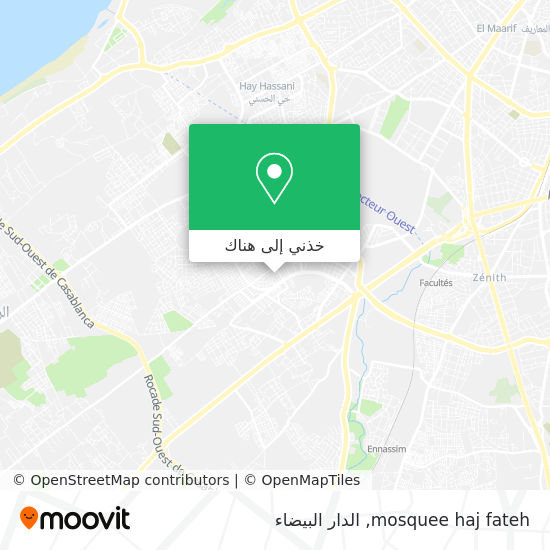 خريطة mosquee haj fateh
