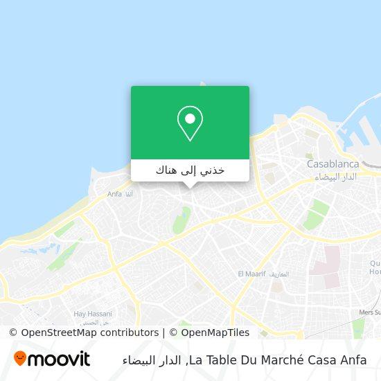 خريطة La Table Du Marché Casa Anfa